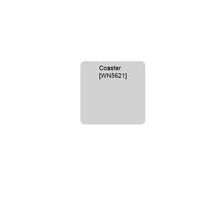 White sublimation-ready coaster
