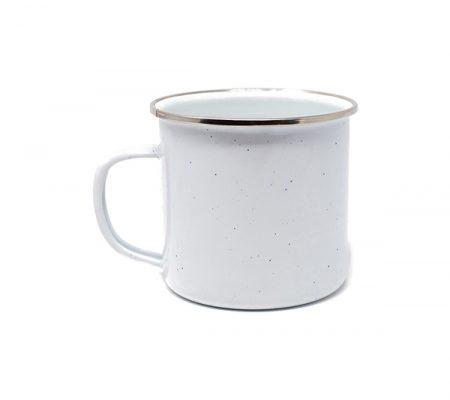 Campfire 17oz speckled mug: white