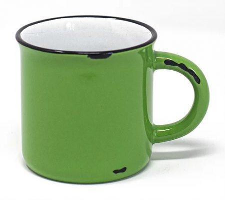Green Vintage Western 15oz mug with handle