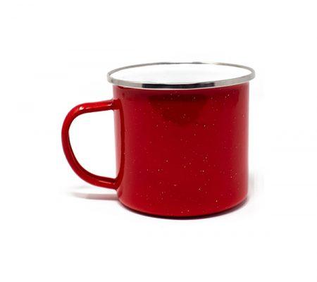 Campfire 17oz speckled mug: red