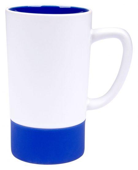 Combo 16oz ceramic mug: white and ultramarine