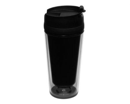 Black DIY 14oz Press Fit tumbler with lid