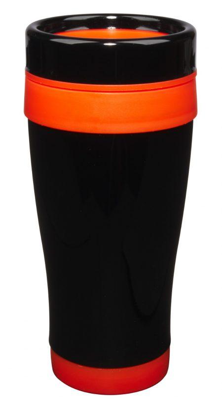 Formula Seven 14oz tumbler with lid and orange trim