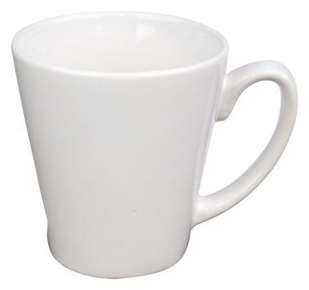 White Funnel 12oz handled mug