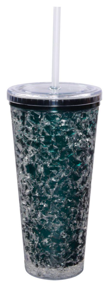 Green Gel Freezer Journey Tumbler with straw: 16oz