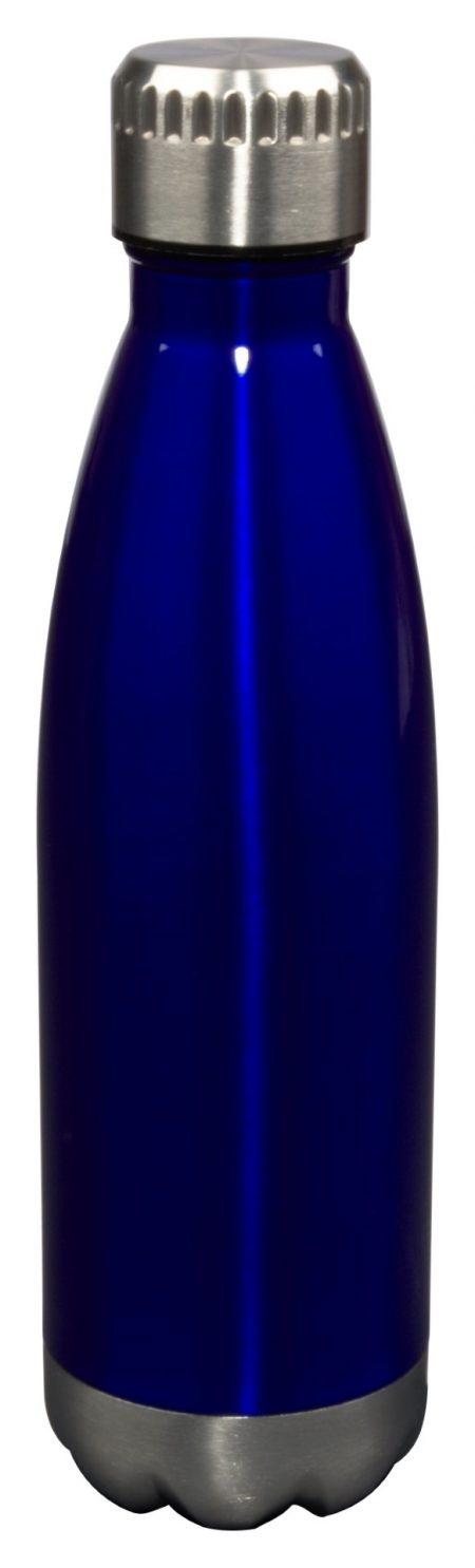 17oz Glacier water bottle with lid - blue