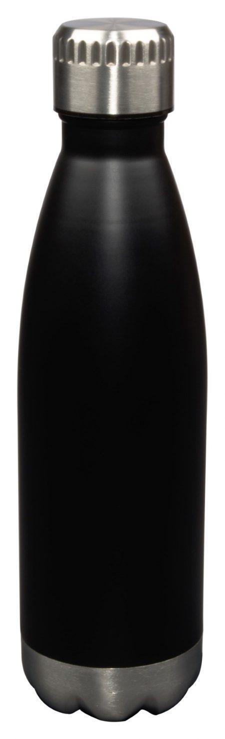 17oz Glacier water bottle with lid - black