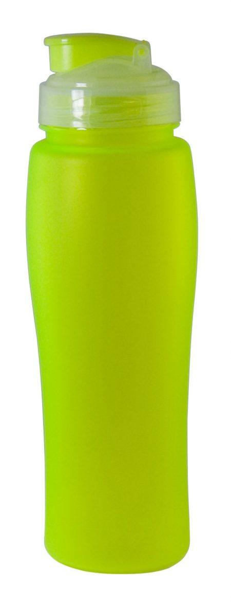 Yellow Neon 23oz plastic bottle with flip lid