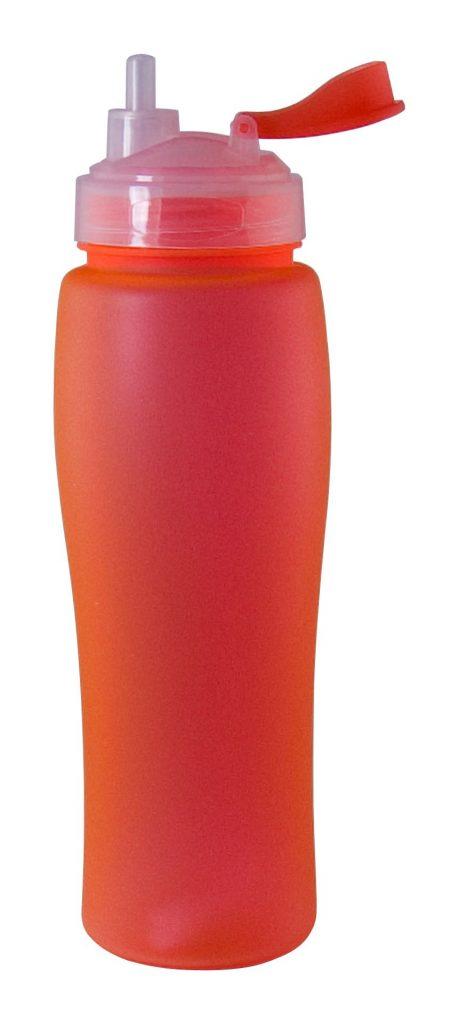Red Neon 23oz plastic bottle with flip lid