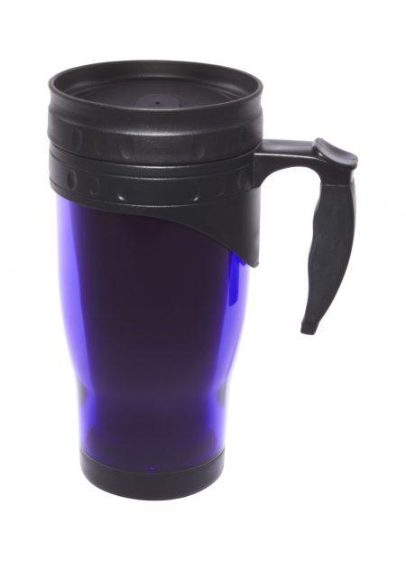 Blue 16oz open handle travel mug