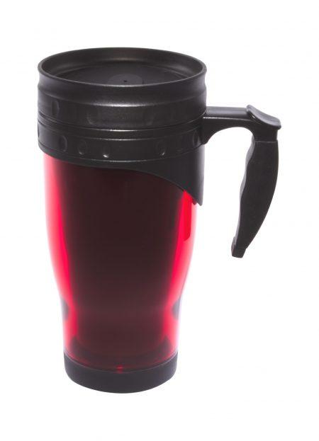 Red 16oz open handle travel mug