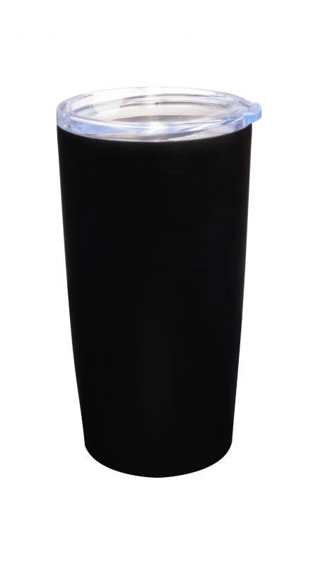 Pro20: 20oz Vacuum Insulated black tumbler with lid