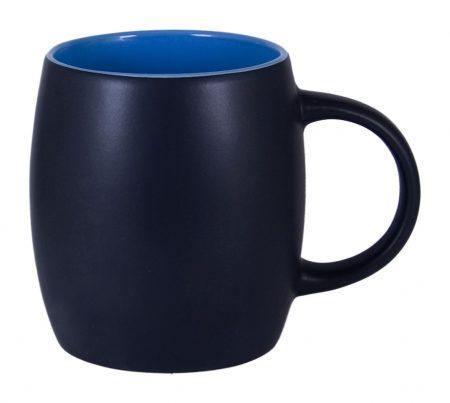 Robusto 14oz ceramic mug: black with blue interior