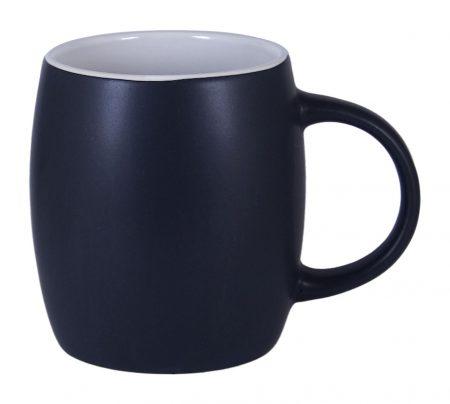 Robusto 14oz ceramic mug: black with white interior