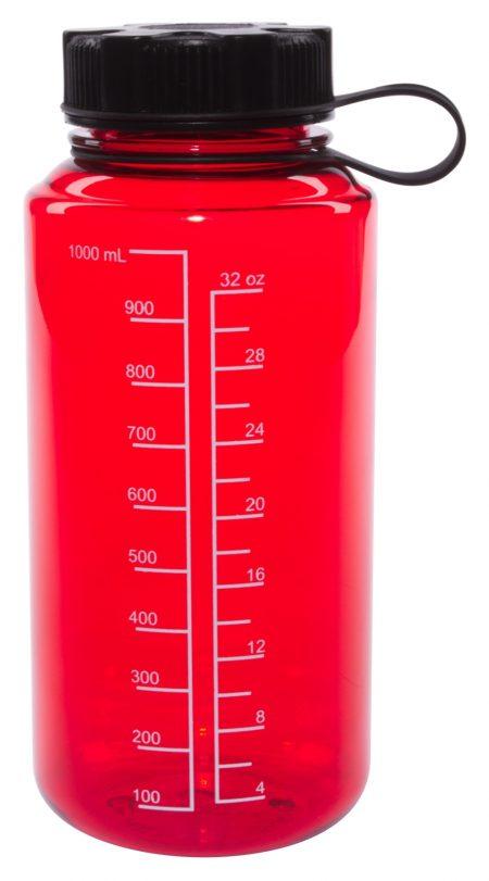 Red 30oz Round Tritan bottle