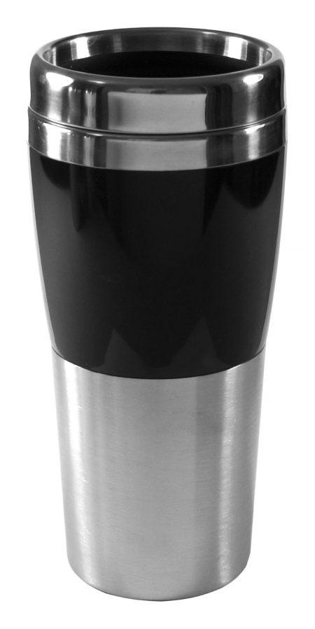 Synergy 14oz travel mug with black accent