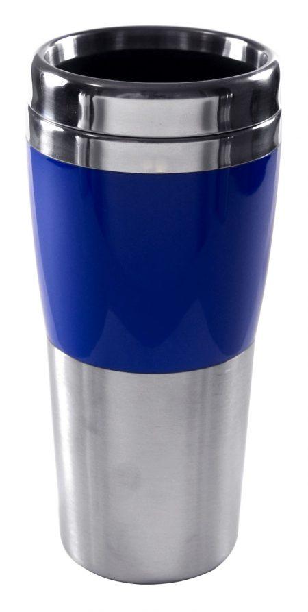 Synergy 14oz travel mug with blue accent