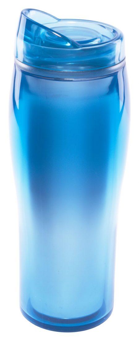 Blue 14oz Optima translucent acrylic tumbler with lid