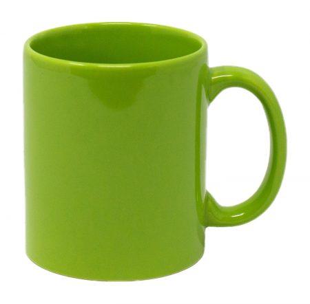 Lime Three Finger C-Handle 11oz Mug