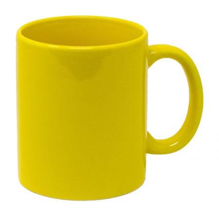 Yellow Three Finger C-Handle 11oz Mug