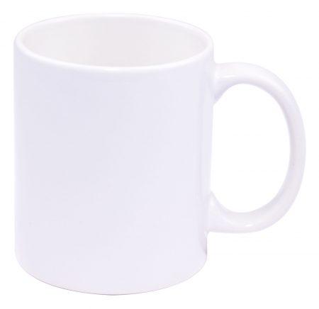 White Three Finger C-Handle 11oz Mug