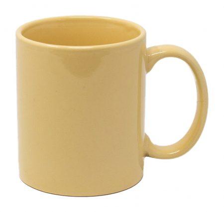 Cream Three Finger C-Handle 11oz Mug