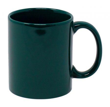 Dark Green Three Finger C-Handle 11oz Mug