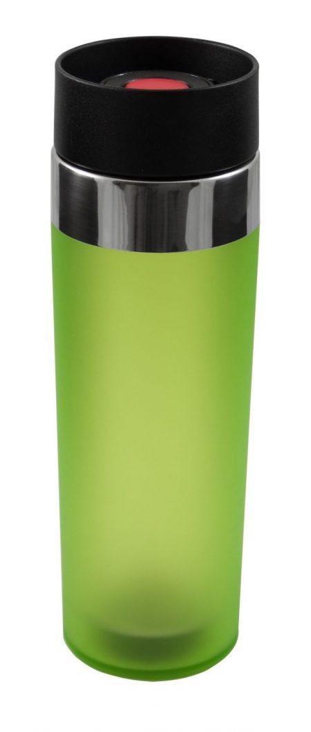 Green Venti 15oz plastic tumbler with push button lid