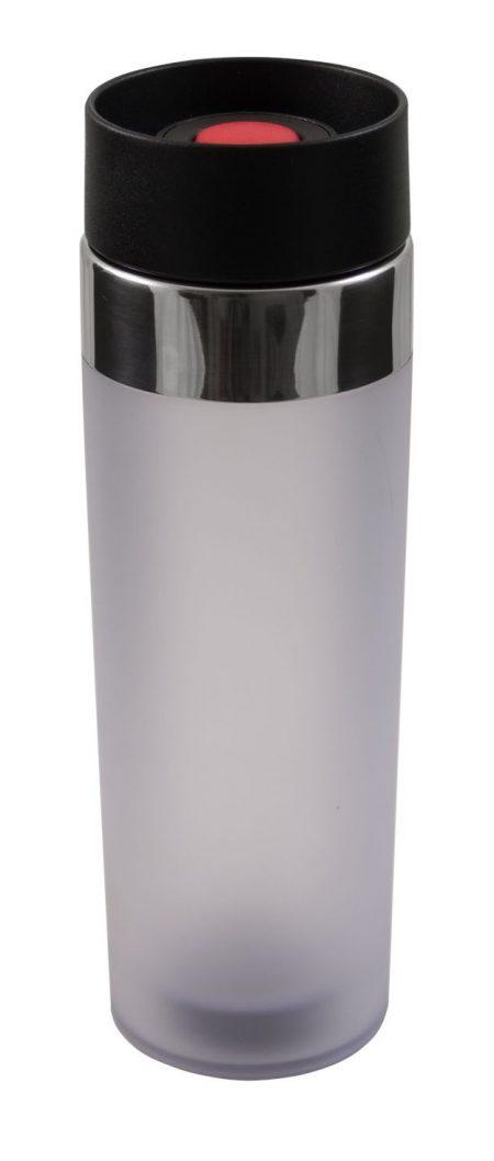 Venti 15oz plastic tumbler with push button lid