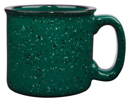 Green 15oz western vintage mug with handle