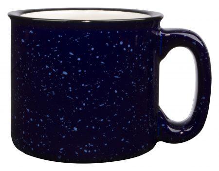Blue 15oz western vintage mug with handle