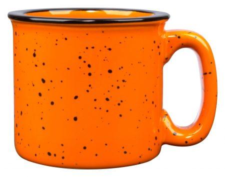 Orange 15oz western vintage mug with handle