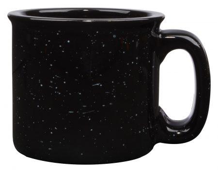 Black 15oz western vintage mug with handle