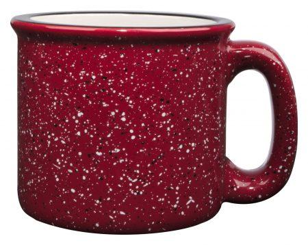 Red 15oz western vintage mug with handle